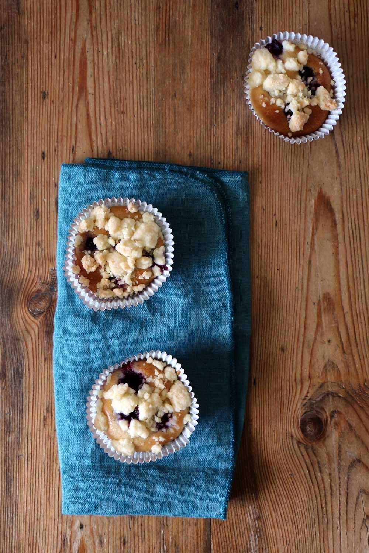 Vegane Blaubeer-Muffins mit Streuseln, Rezept