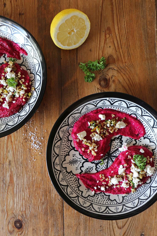 Rote Bete und Süsskartoffel Dip - Rezept aus Palästina