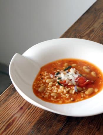 Risotto-Suppe - Rezept vegetarisch